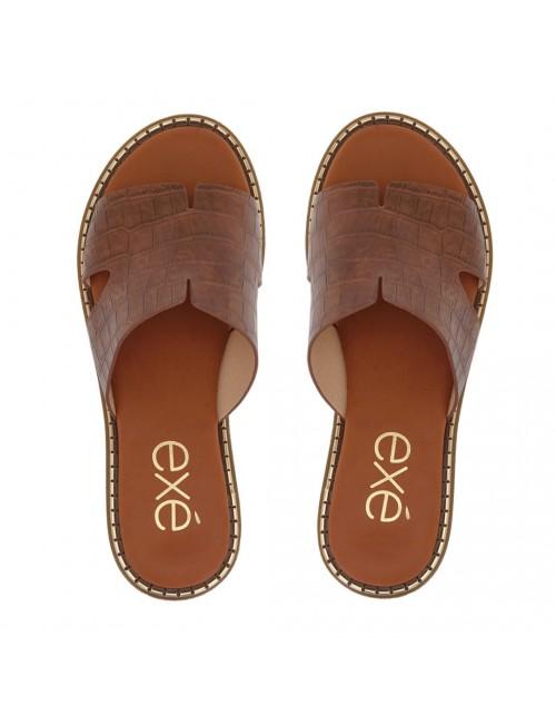 Γυναικείο παπούτσι flat EXE  M47001451G55  οικολογικό δέρμα ΤΑΜΠΑ ΚΡΟΚΟ